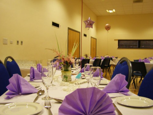 Set up for a Wedding Reception